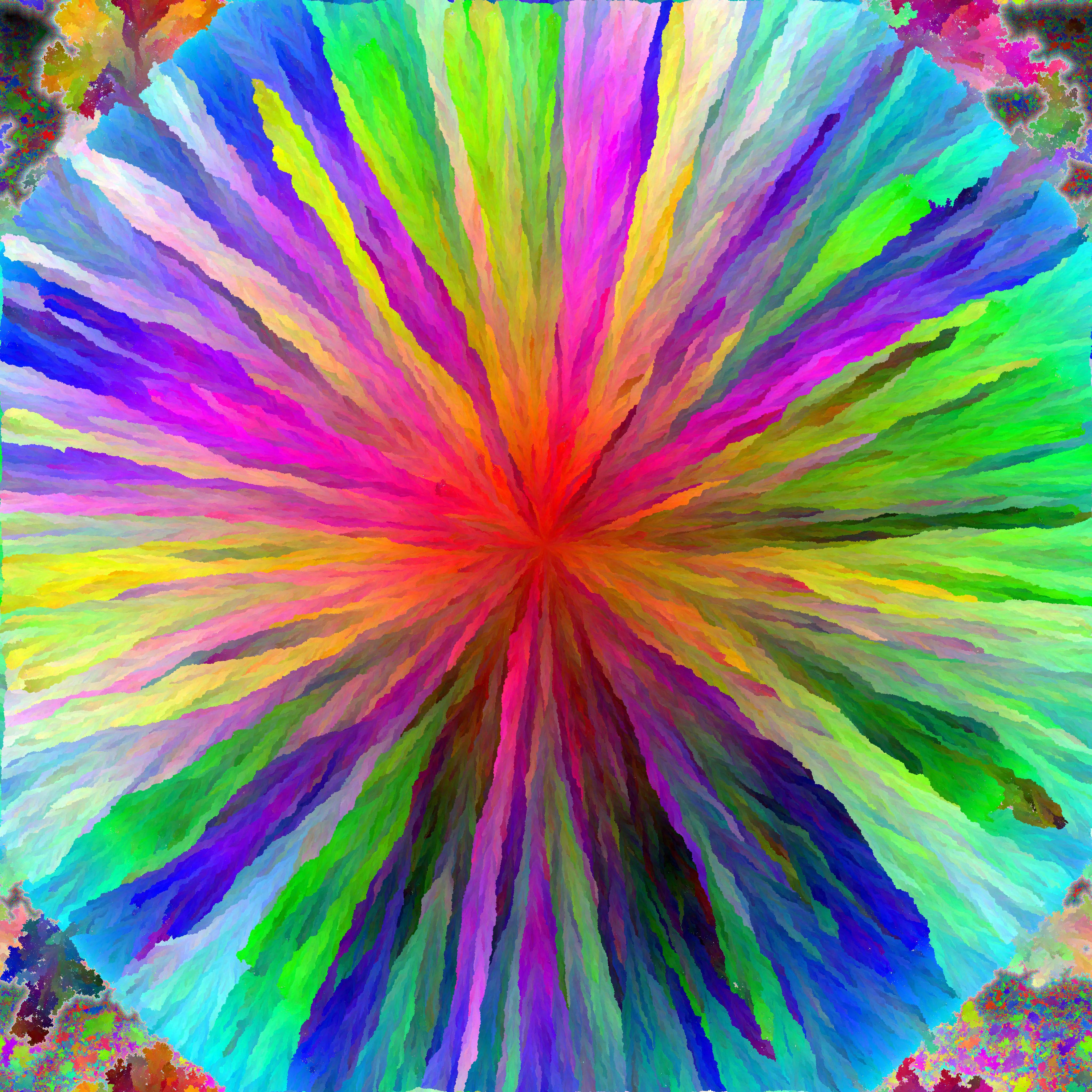Big flower on allRGB